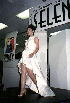 Selena Quintanilla classic hi-lo dress