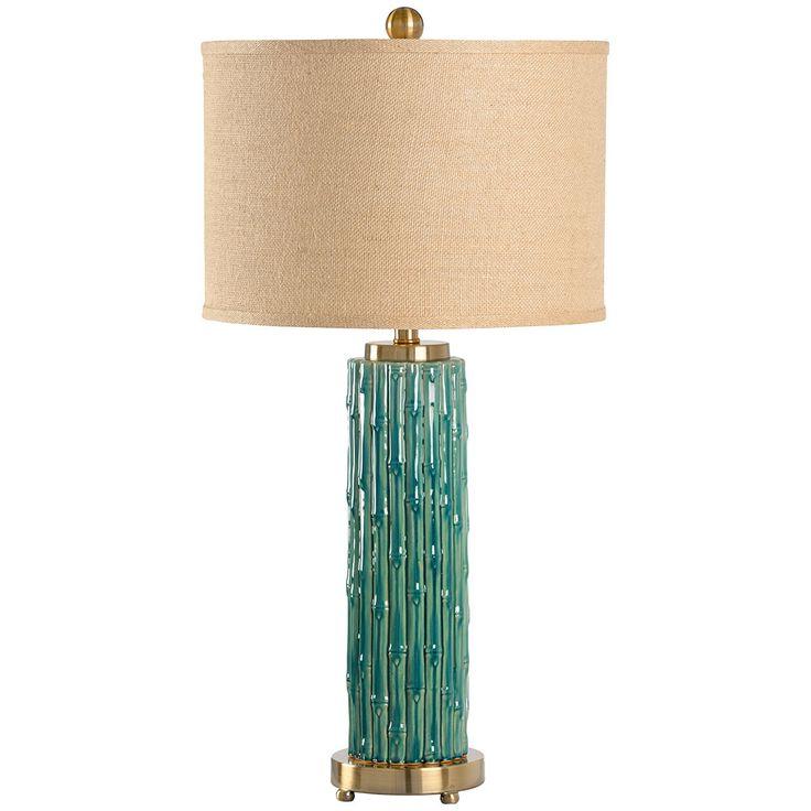 Wildwood Bamboo Ceramic Malay Lamp