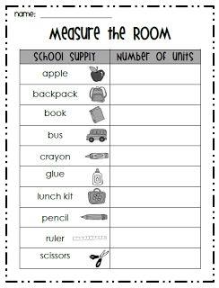 First Grade Garden: Measure the Room {Math Freebie #4}