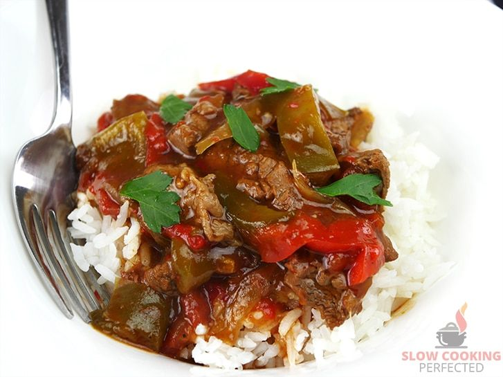 Rich n tasty pepper steak recipe For the slow cooker.