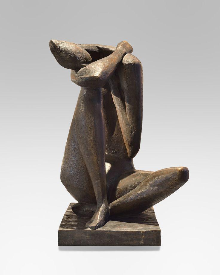 ANDRE WILLEQUET (Bruxelles 1921 – Uccle 1998) « Grande Naïade» Circa 1955 Bronze n°1/8 Fondeur TEP, Grèce 100 x 50 x 60 cm
