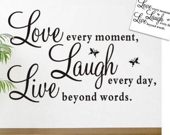 Wall Decal  - LIVE, LOVE, LAUGH letters - Vintage - Retro - Removable Wall Decal