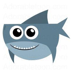 Cute shark clipart black and white - photo#18