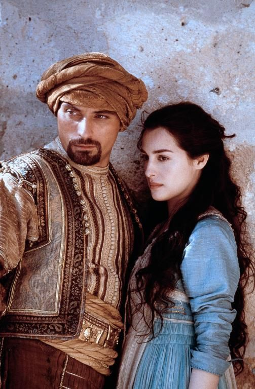 "Rufus Sewell and Amira Casar, in ""Ali Baba and the 40 Thieves"" , in 1001 Arabian Nights TV Mini Series. One of my favorite made for-TV movies."