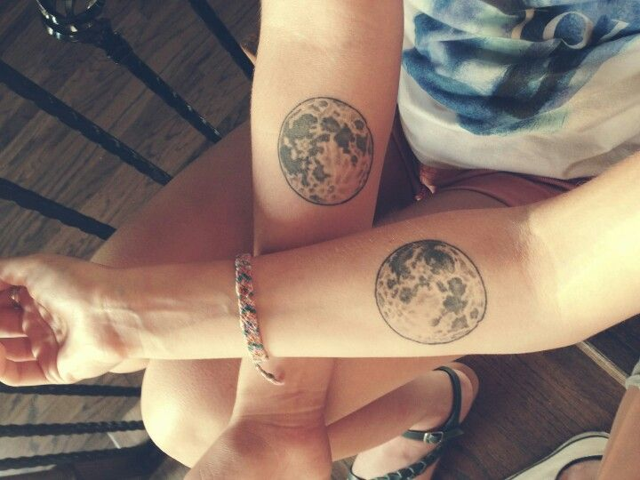 Full moon tattoos my best friend, Megan, and I got before we went off to college.