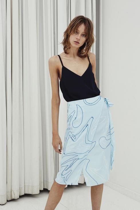 Jillian Boustred / Artist Wrap Skirt - Akagu