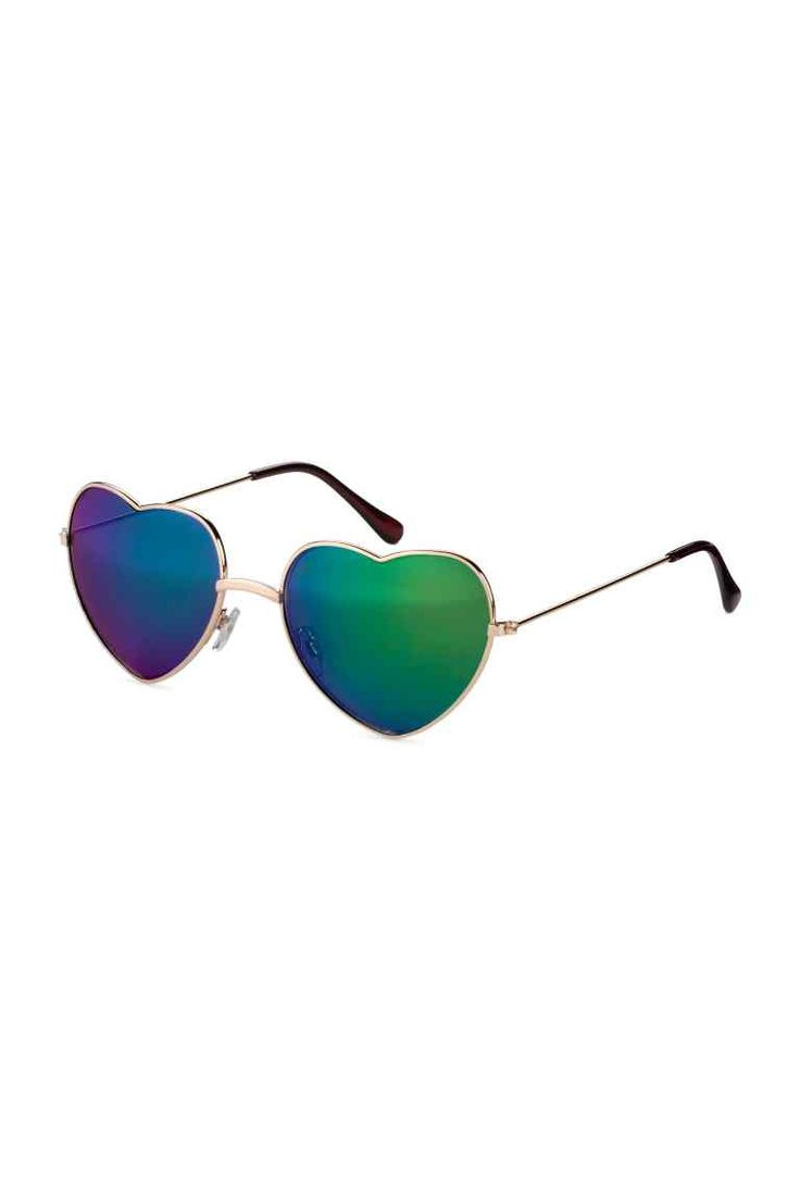 Heart-shaped sunglasses: H&M LOVES COACHELLA. Heart-shaped sunglasses with metal frames and UV-protective tinted lenses.
