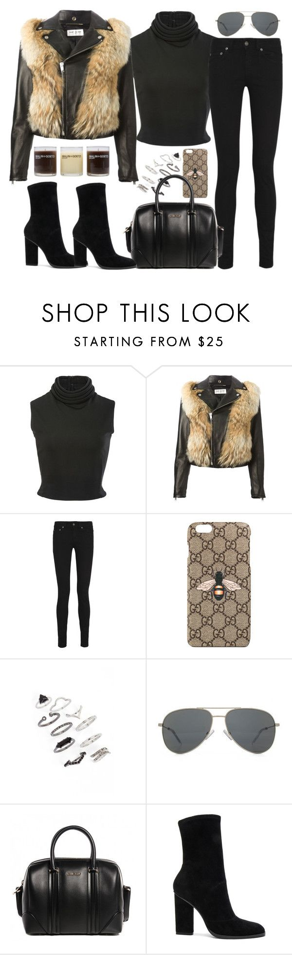 """Untitled #2733"" by briarachele on Polyvore featuring Brandon Maxwell, Yves Saint Laurent, Gucci, Topshop, Givenchy, Alexander Wang and (MALIN+GOETZ)"