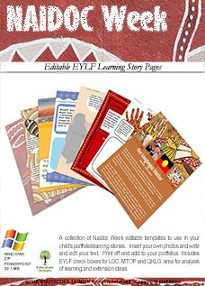 Time saving progamming and planning resources for early childhood educators - Naidoc Week EYLF Pack