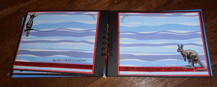 BaRb'n'ShEllcreations - Pages from a Mini Album - Australia Theme - made by Shell