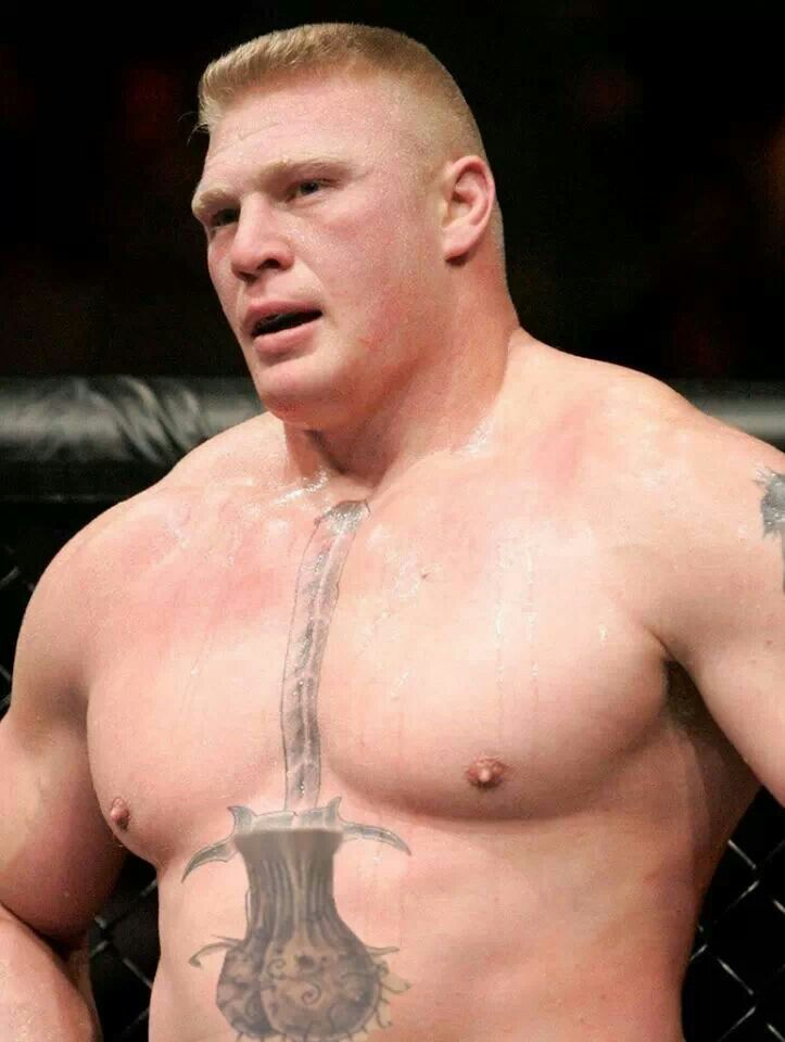 Brock lesnars testicle tattoo lol misc pinterest for Penis and vagina tattoos