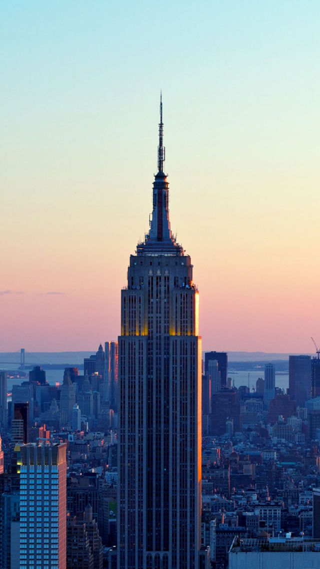 Empire State Building Sunset New York iPhone 5 Wallpaper