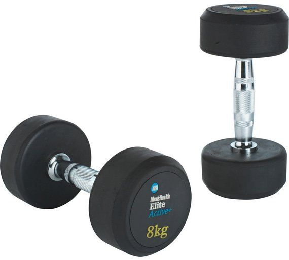 Buy Men's Health Fixed Weight Dumbbell - 2 x 8kg at Argos.co.uk, visit Argos.co.uk to shop online for Weights and dumbbells, Weights, multi-gyms and strength training, Fitness equipment, Sports and leisure