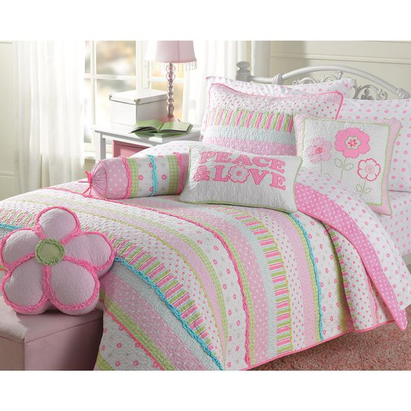 Greta Pastel Cotton 3-piece Quilt Set - Overstock™ Shopping - The Best Prices on Kids' Quilts