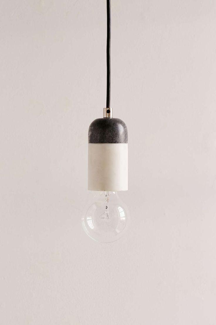 best modern lighting images on pinterest  modern lighting  - mixed marble pendant light