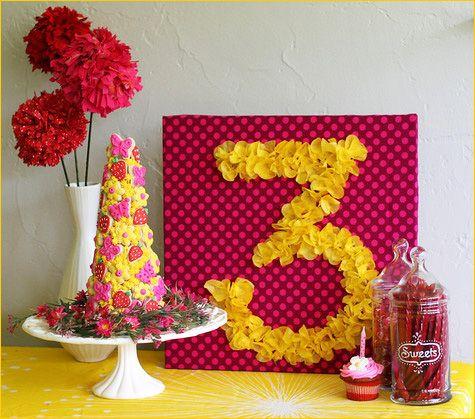 Tissue number birthday sign tutorial
