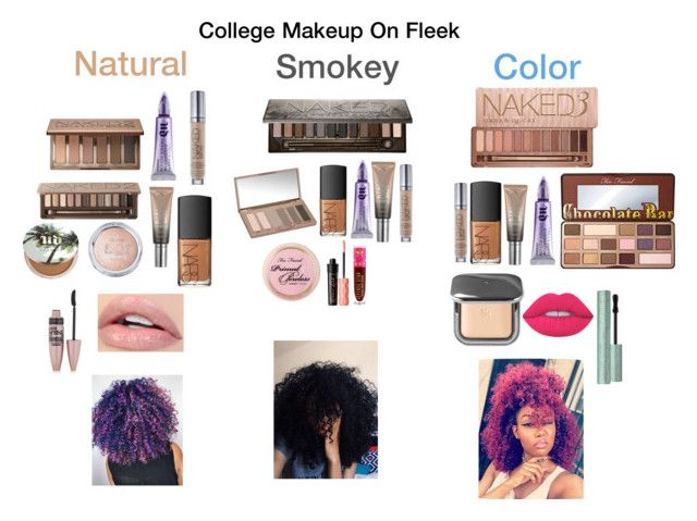 """""""College Makeup On Fleek"""" by princesskierra10 on Polyvore featuring Urban Decay, Too Faced Cosmetics, NARS Cosmetics, Maybelline, Benefit, Jeffree Star and Lime Crime"""