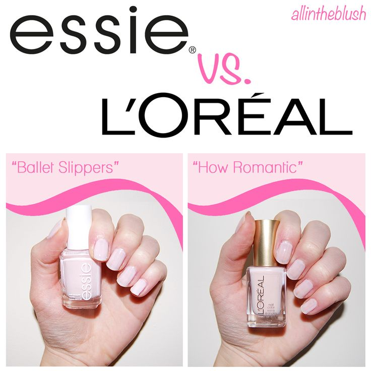 Dupe: Essie Ballet Slippers VS. L'Oreal How Romantic Nail Polish