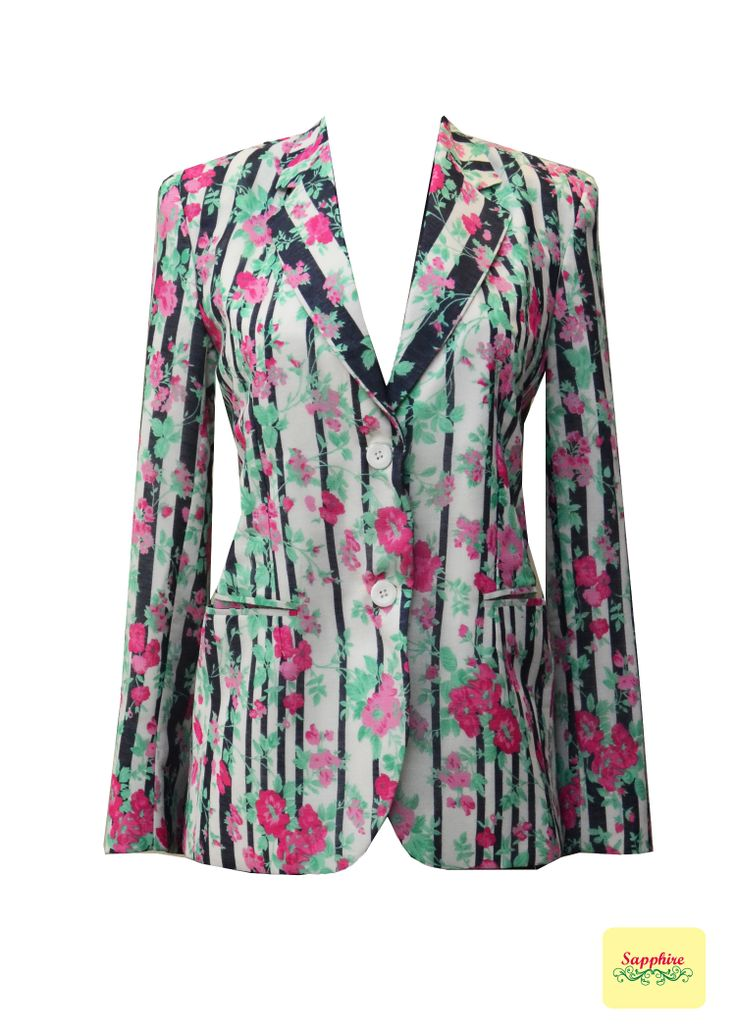 Floral and stripes jacket