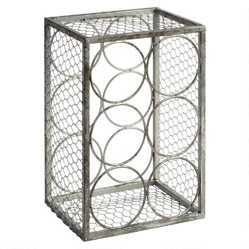 One of my favorite discoveries at ChristmasTreeShops.com: 6-Bottle Chicken Wire Wine Rack