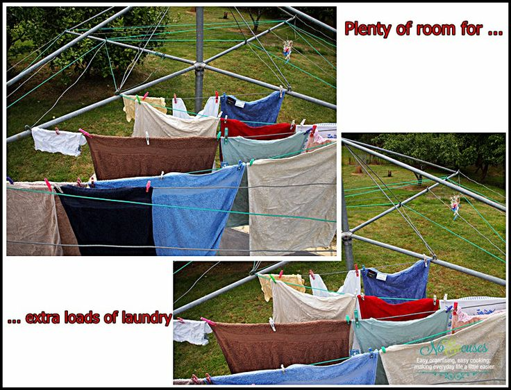 How to create more space on an outside clothes line   No Excuses!