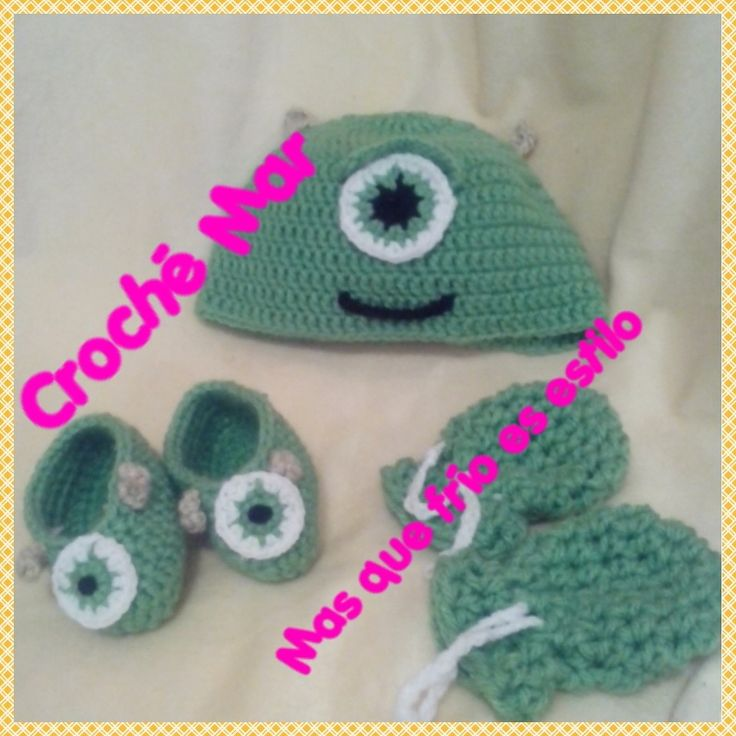 Conjunto de Monster Inc por Croche Mar