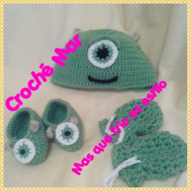 Conjunto de Monster Inc por Croche Mar