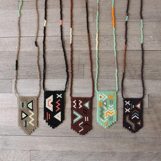 Image of Zig Zag Peyote Stitch Necklace