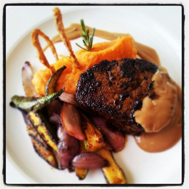 Coffe spiced fillet with Jack Daniels pan sauce