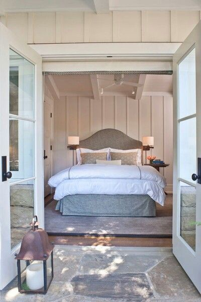 Love to have doors in the master bedroom that lead outside