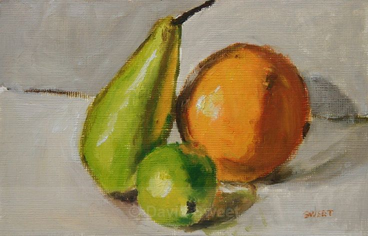Still life with fruit - Oil Paintings