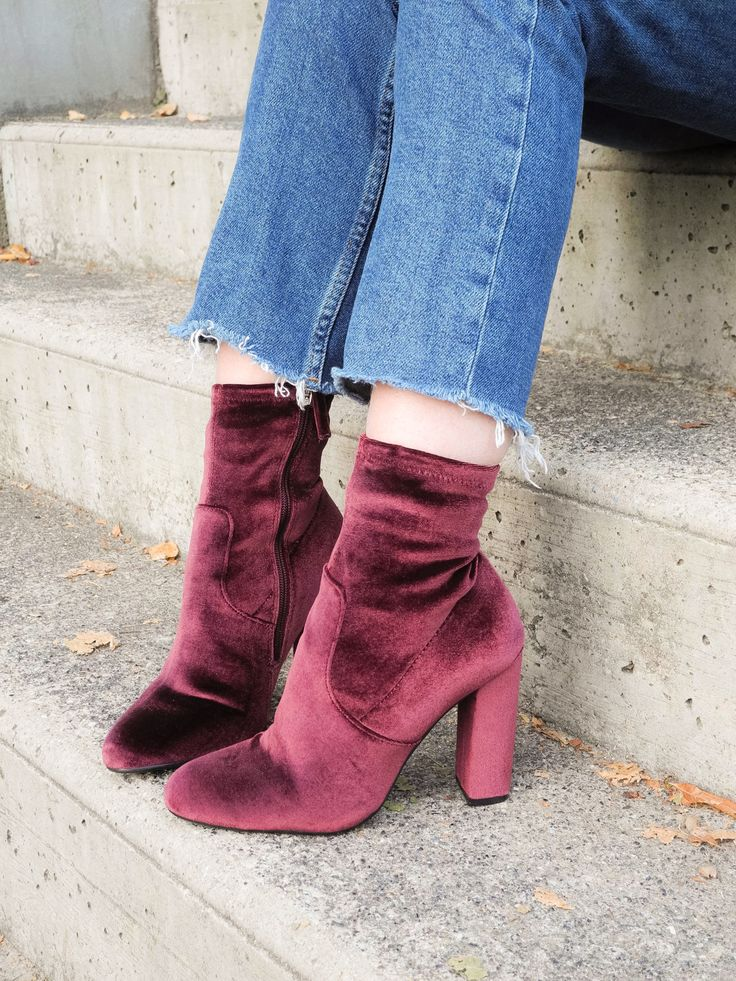 Steve Madden velvet boots @maaaeva