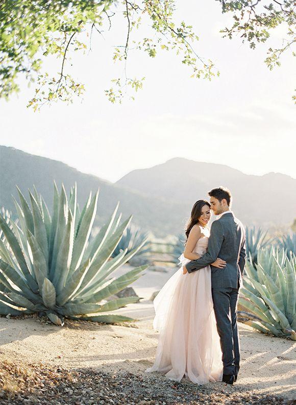 Desert Engagement Shoot by Jose Villa #engagement