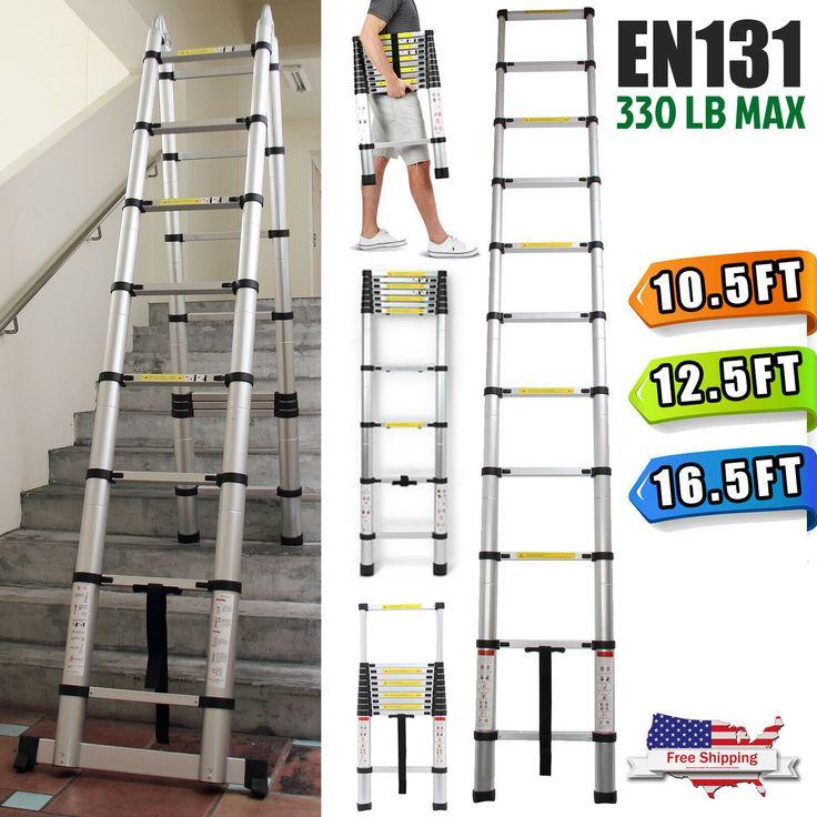 En131 Aluminum Multi Purpose Ladder Folding Telescopic A Frame 16 5 12 5 10 5ft Ladder Decor Ladder In 2020 Multi Purpose Ladder Telescopic Ladder Aluminium Ladder