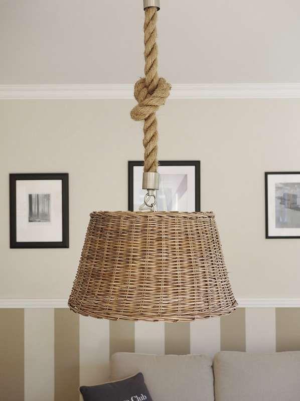 Hangelampe Rattan Deckenleuchte Graubraun Online Kaufen Hangeleuchte Lampe Deckenlampe