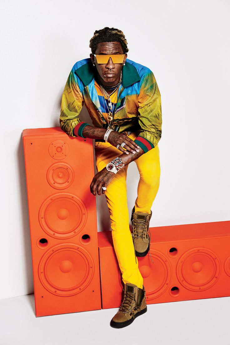 yellow pants, tims Young Thug Proves High Fashion Has Gone Crazy (Which Makes Total Sense | GQ