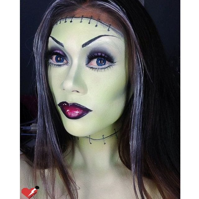 frankenstein makeup done by alana dawn get the details and products i used on our blog - Where Can I Get Halloween Makeup Done