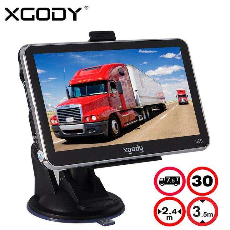 XGODY 5 Inch Car Truck GPS Navigation 128M+8GB MTK FM SAT NAV Navigator Navitel Russia North/South American 2017 Europe Maps //Price: $0.00//     #shopping