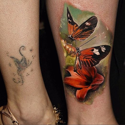 Omg this but with monarchs tattoos pinterest ink for Koi papillon