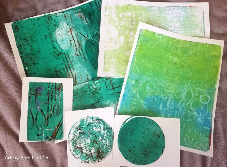 Gift Journal Part 1 - Gelli Printing Technique with Styrofoam good video