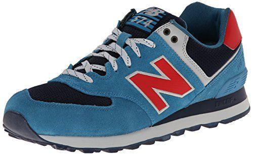 New Balance ML574, Herren Sneakers, Blau (Blue/Red), 44.5 EU (10 Herren UK) - http://uhr.haus/new-balance/44-5-eu-new-balance-ml574-schuhe-5-0-cadet