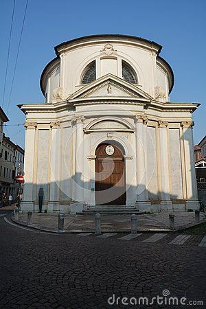 A beautiful white church in the centre of a great city, Treviso, north Italy, Europe.