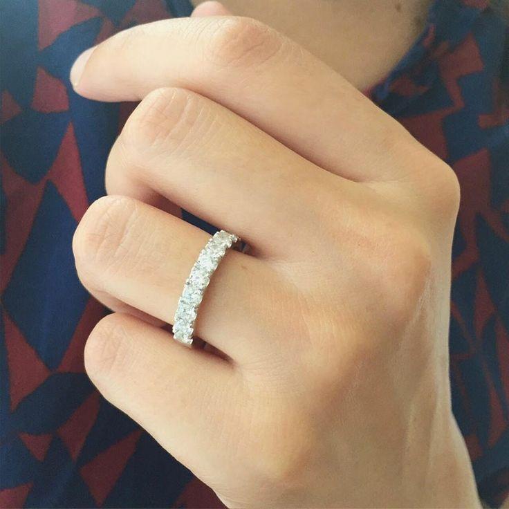 Mariée Alliance Diamant en Or blanc
