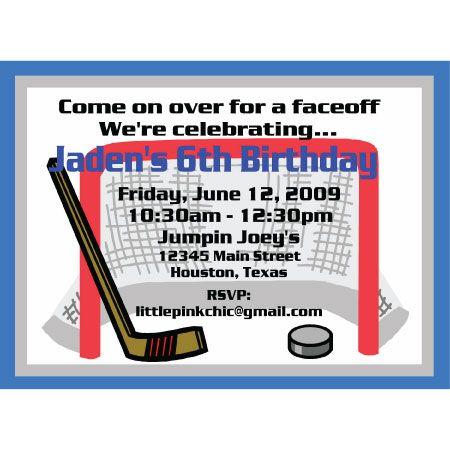 191 best hockey images on Pinterest Hockey stuff, Ice hockey and - birthday invitation card template photoshop