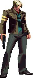 Leon S. Kennedy Kof XIII style by Riklaionel