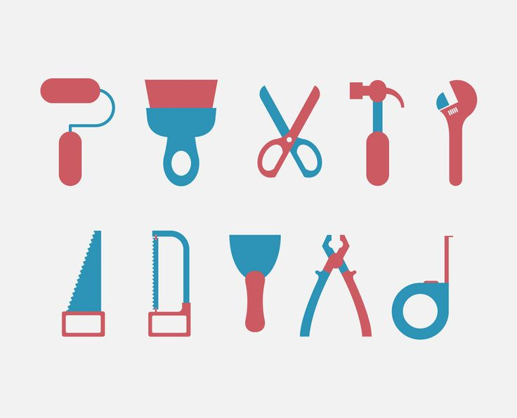 Vector Based Simple Flat Icons of Construction Equipments
