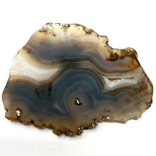 """Banded Agate Geode Slab/Slice- Large-Grade """"A""""- Natural Color - 610 Carats"""