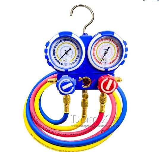 100.80$  Know more  - VMG-2-R410A Manilfold Pressure Gauge With hand-crarry plastic case,R410A, CE Approved, 3 pcs charging hoses