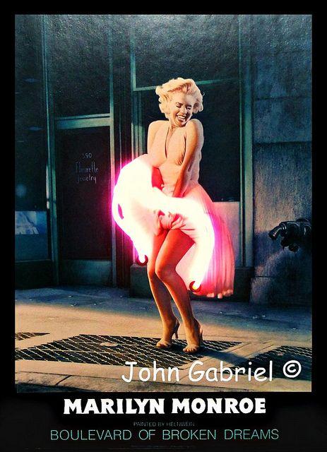 Marilyn Monroe Neon Light Boulevard Of Broken Dreams Flickr