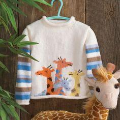 Giraffe hand knit
